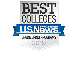 US News and World Report Badge for Best Engineering Programs 2019