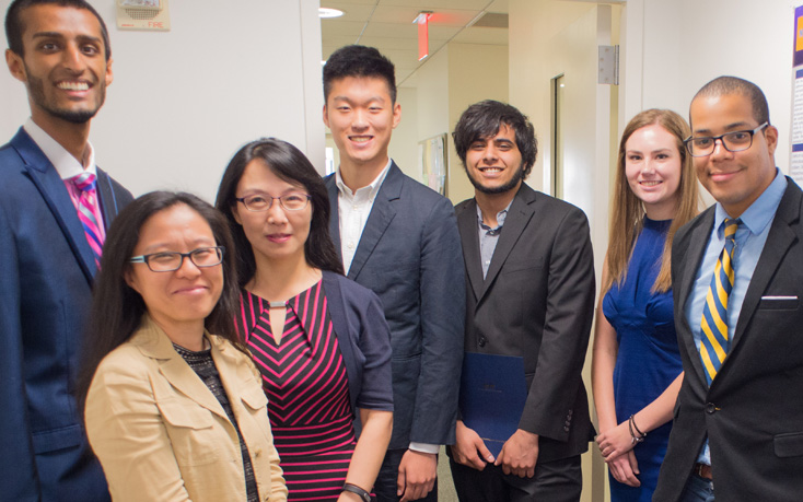 Group of NYIT Graduate Students Posing