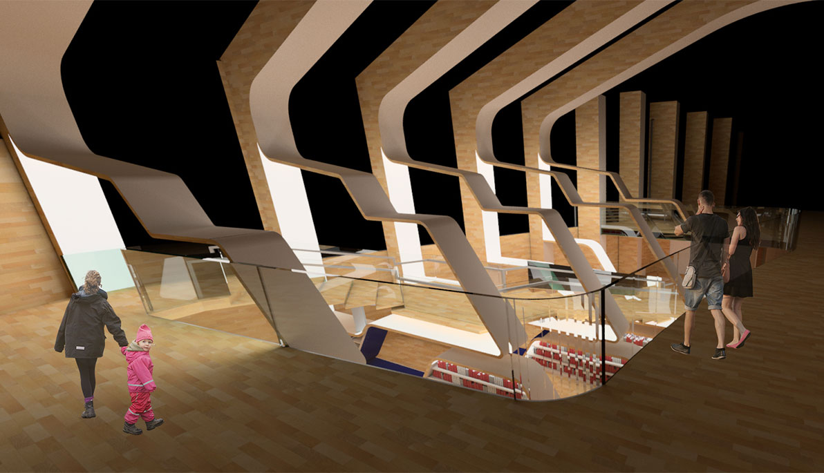 ... Interior Design Students Earn Prestigious Donghia Scholarship. John  Sanchezu0027s Winning Entry: A Concept For A New Staircase In The Vennesla  Library And