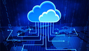 Abstract illustration of cloud computing