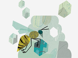 Abstract illustration of bee