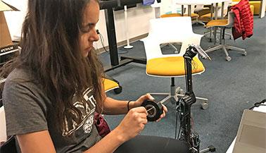 Kicking Bot at NYIT's Innovation Labs