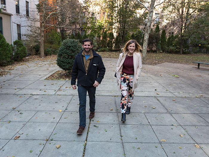 Michael Riccardi and Gabrielle Redding tour the park being re-envisioned by Freedom by Design
