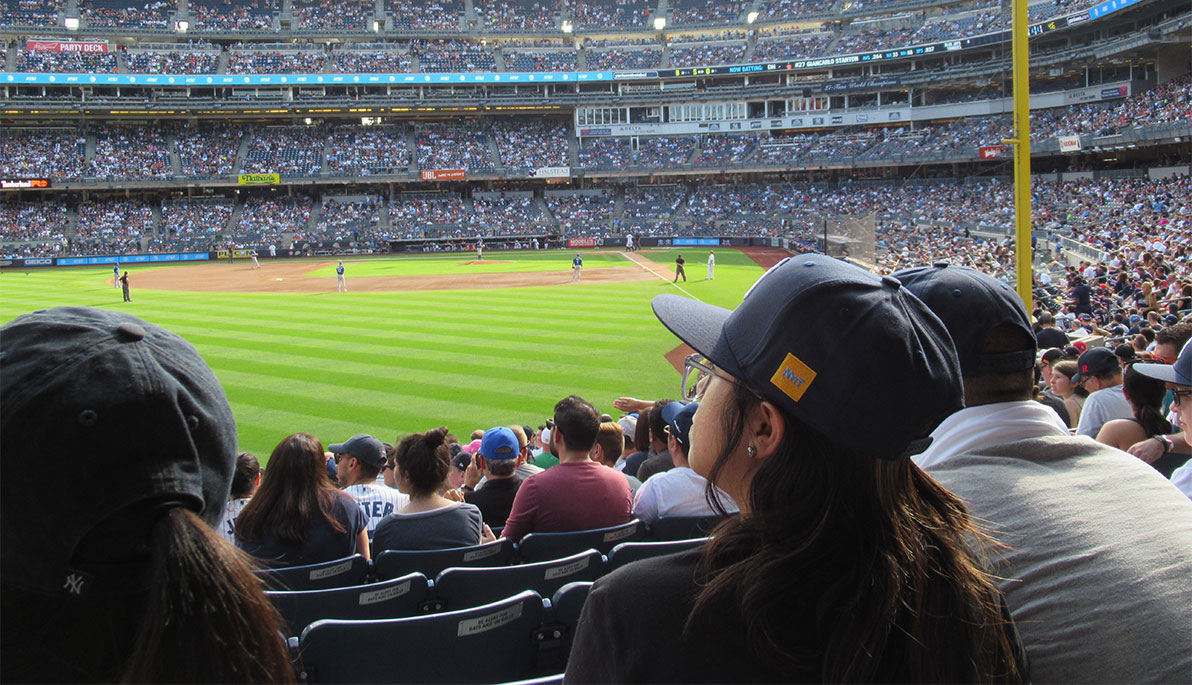 NYIT students at Yankee Stadium