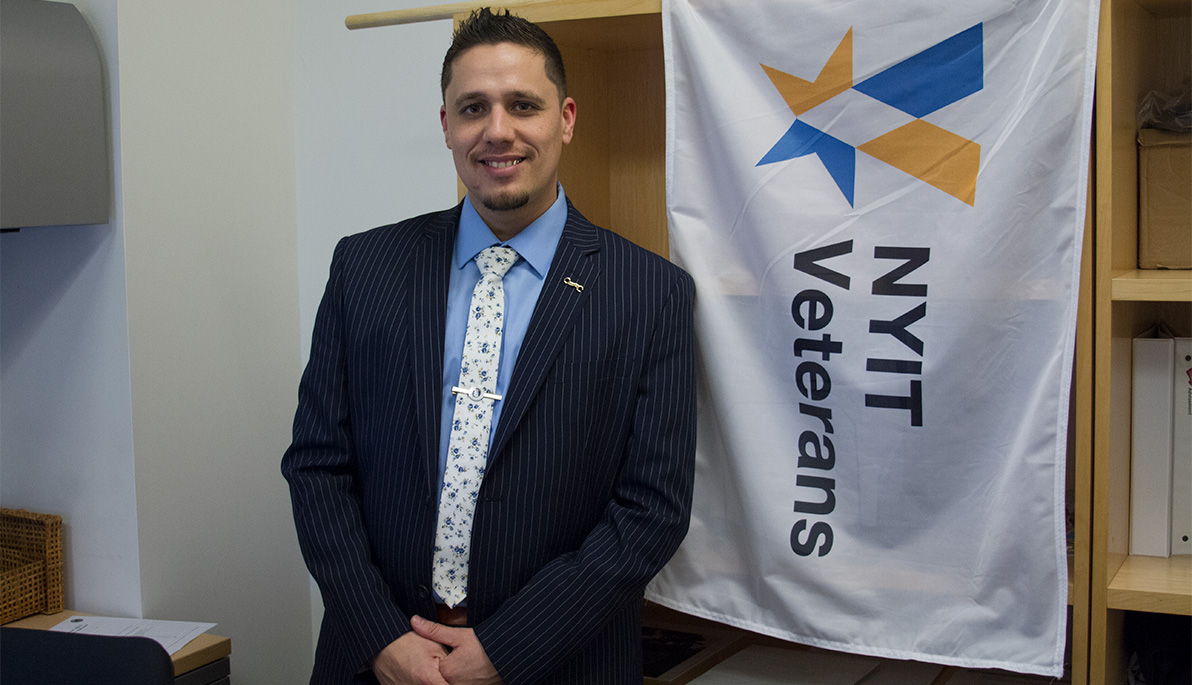 NYIT Director of Military and Veteran Affairs Frank Rivera