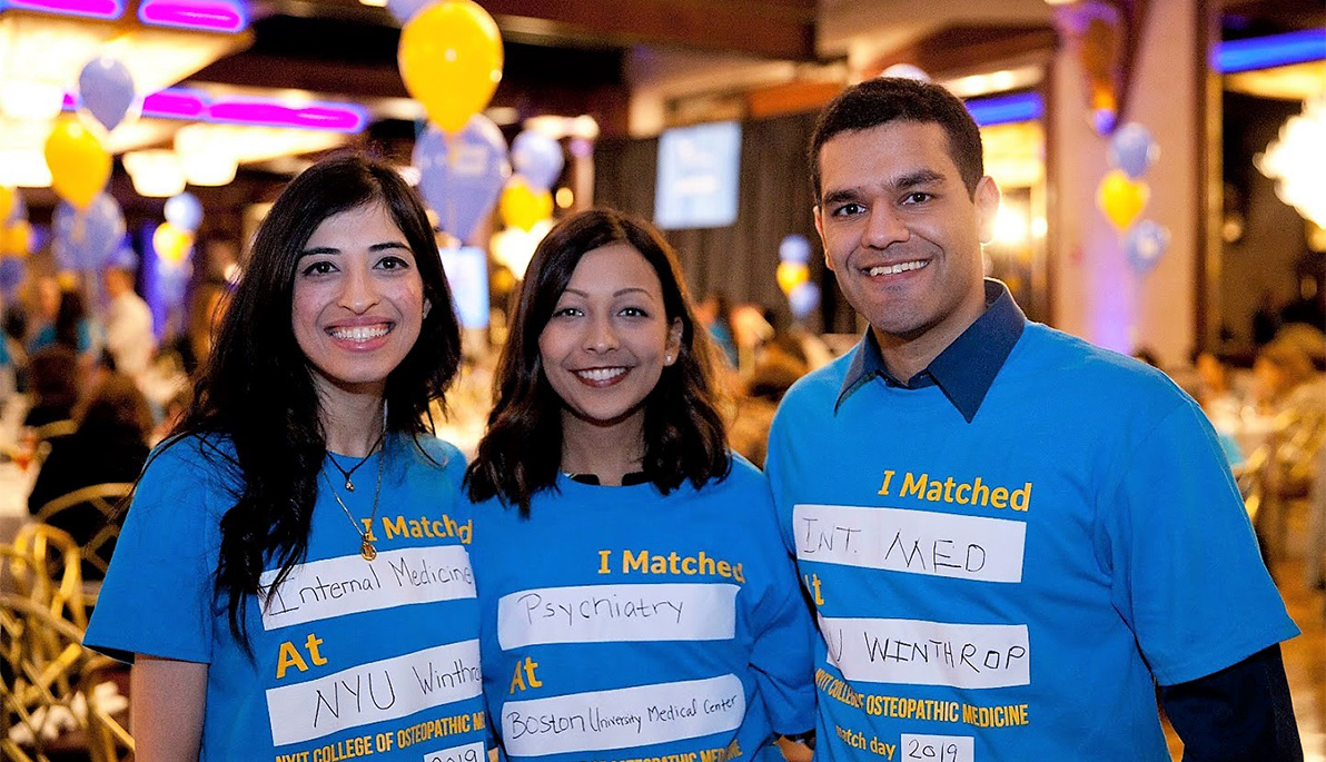 NYITCOM Students Discover Their Future at Match Day | Box | NYIT