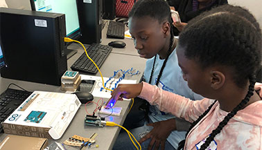 High School Students Learn About STEM Fields at First Girls in Engineering and Technology Day