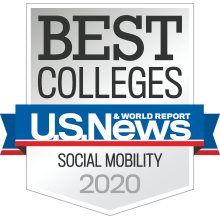 US News and World Report: Best Colleges 2020 Badge