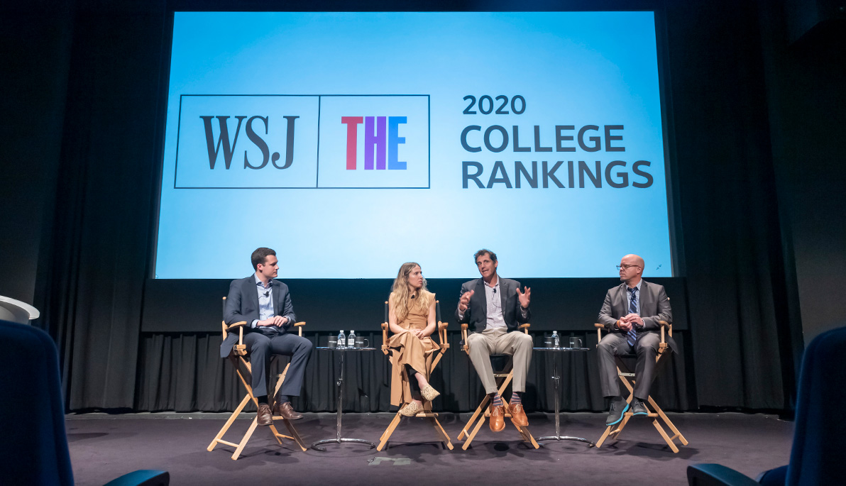 Panelists at the WSJ/THE Rankings launch.