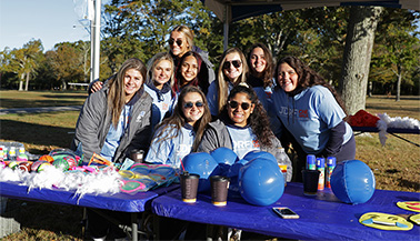 Members of the women's lacrosse team at the Juvenile Diabetes Research Foundation's One Walk.