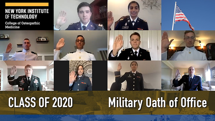Class of 2020 taking Military Oath of Office