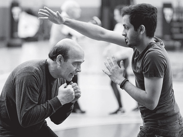 Kirtan Patel (right) with Marc Burns (left), who has Parkinson's and is also a volunteer instructor.