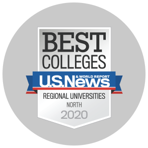 USNWR ranked among the top 50 regional universities in the North.