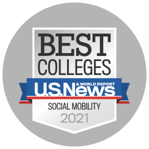 USNWR Best Colleges in Social Mobility logo