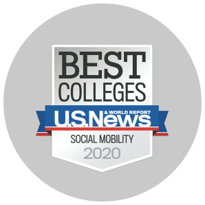USNWR Best Colleges in Social Mobility, 2020