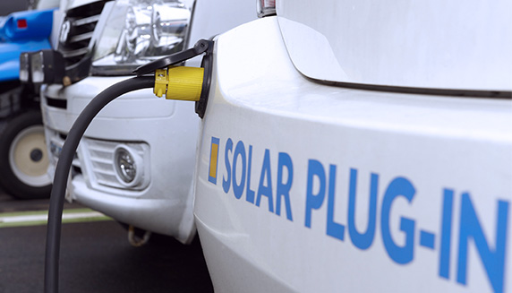 Solar power cars recharging