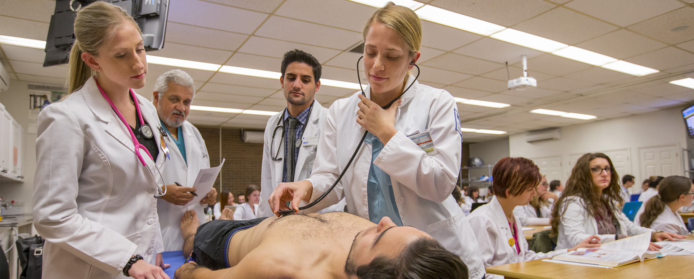NYIT doctor with stethoscope