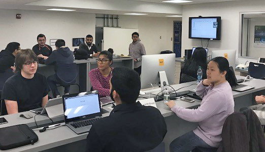 Students at NYIT's first Hackathon