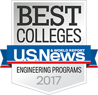 US News and World Report Badge for Best Engineering Programs 2017