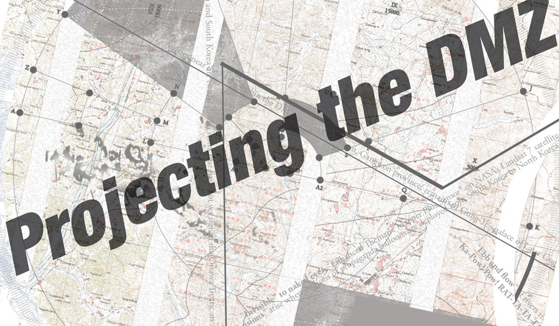 Map of DMZ with exhibition title: Projecting the DMZ