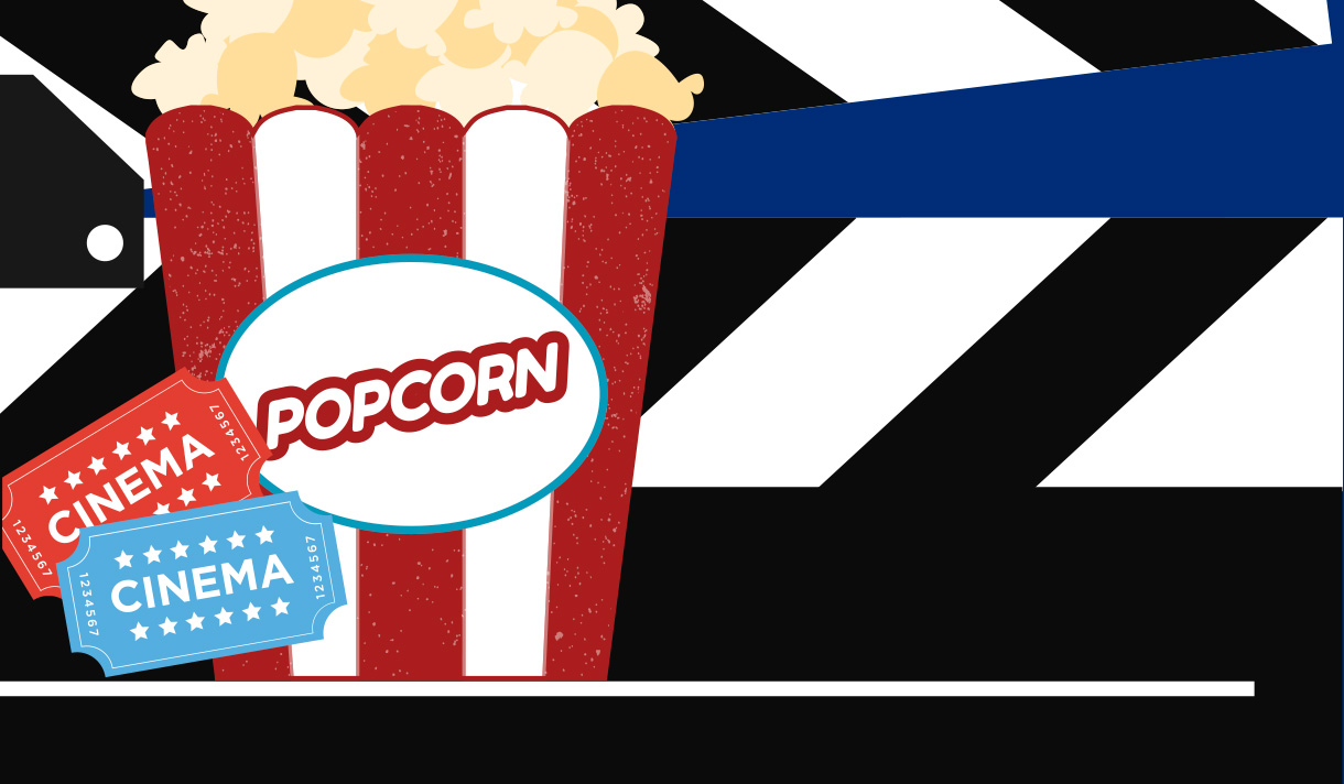 Clipart of popcorn.