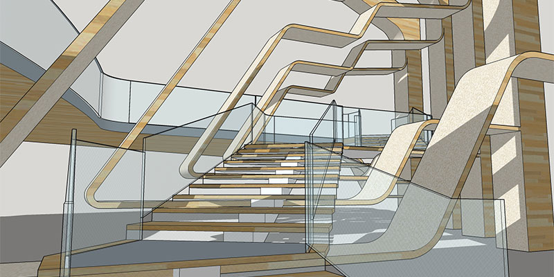 John Sanchezs Winning Entry A Concept For New Staircase In The Vennesla Library And