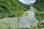 View of the Boiling River from the Healing Centre. Photo by Yash Masane