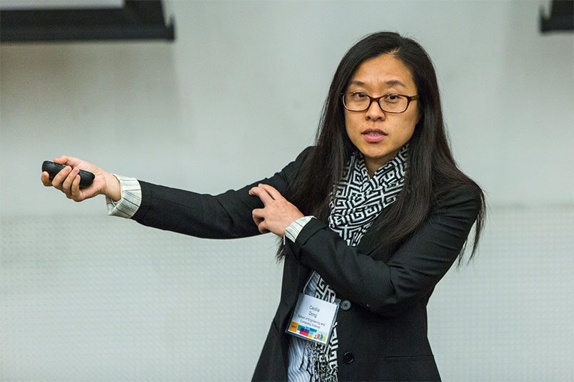 "Associate Professor Cecilia Dong presents ""An NYIT Education: Bringing Out the Best in Our Students"""