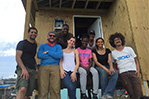 NYIT students volunteering with TECHO to build homes in San Isidro Canovanas, Puerto Rico.