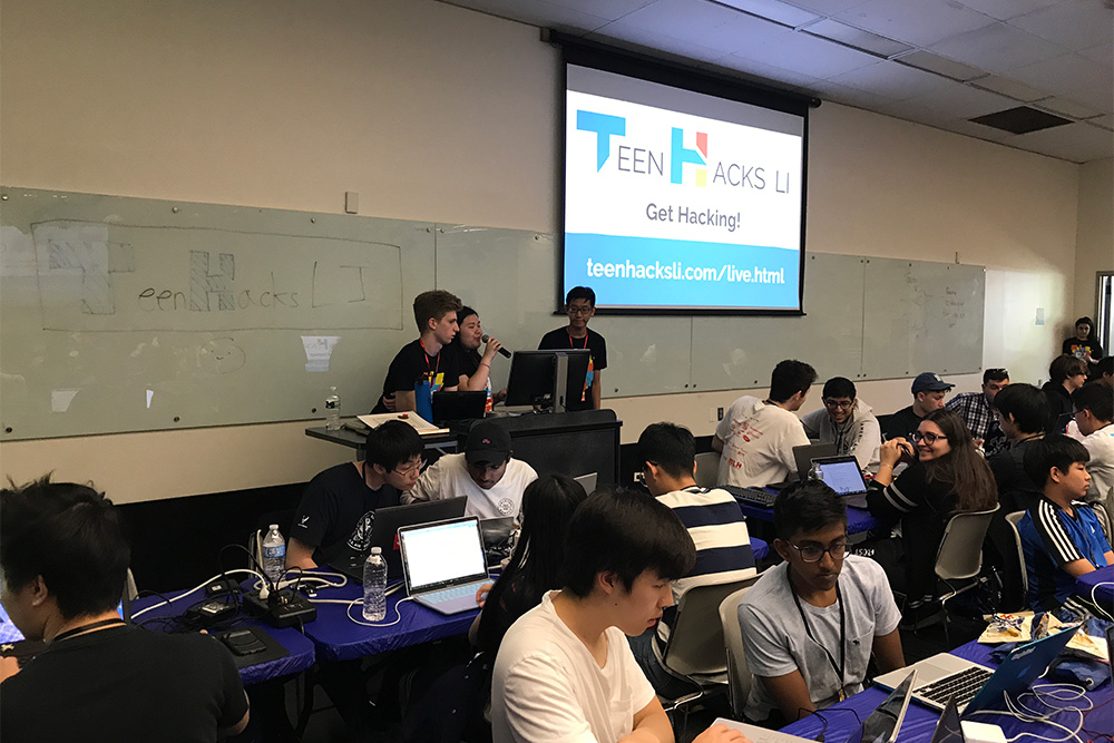 Scenes from the TeenHacks LI hackathon at New York Institute of Technology, May 25 – 26, 2019.