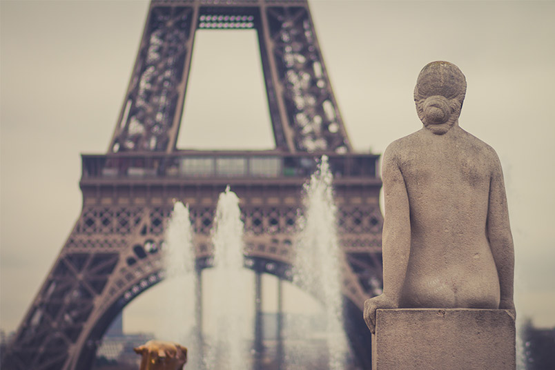 """I picture myself as that statue…I could gaze at the Eiffel for hours on end,"" said Cabiladas."