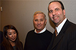 Ian Schrager (center), legendary hotelier and co-founder of Studio 54, with NYIT Student Advisement Specialist, Patthara Chandaragga (left) and Koenig.