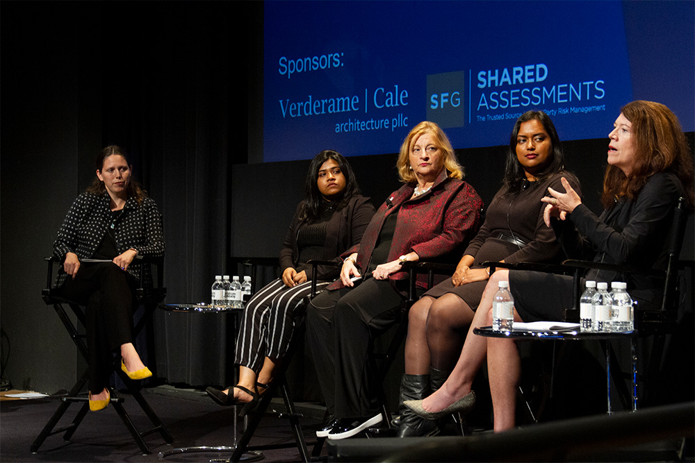 "A focus on ""Gen Z"" or ""zoomers"" emerged in another panel, which included Charlotte Whitmore, New York Institute of Technology junior Noshin Raisa, Davia B. Temin, Neha J. Joshi and Ceree Eberly."