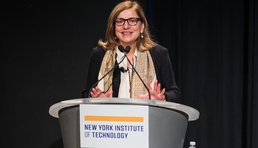 Nada Anid, Vice President, SCEA welcomed the audience to the first Women's Technology Council conference, which featured critical discussions on bridging the gender gap and resolving cross-cultural and unconscious biases.