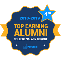 badge for Payyscale top alumni earnings