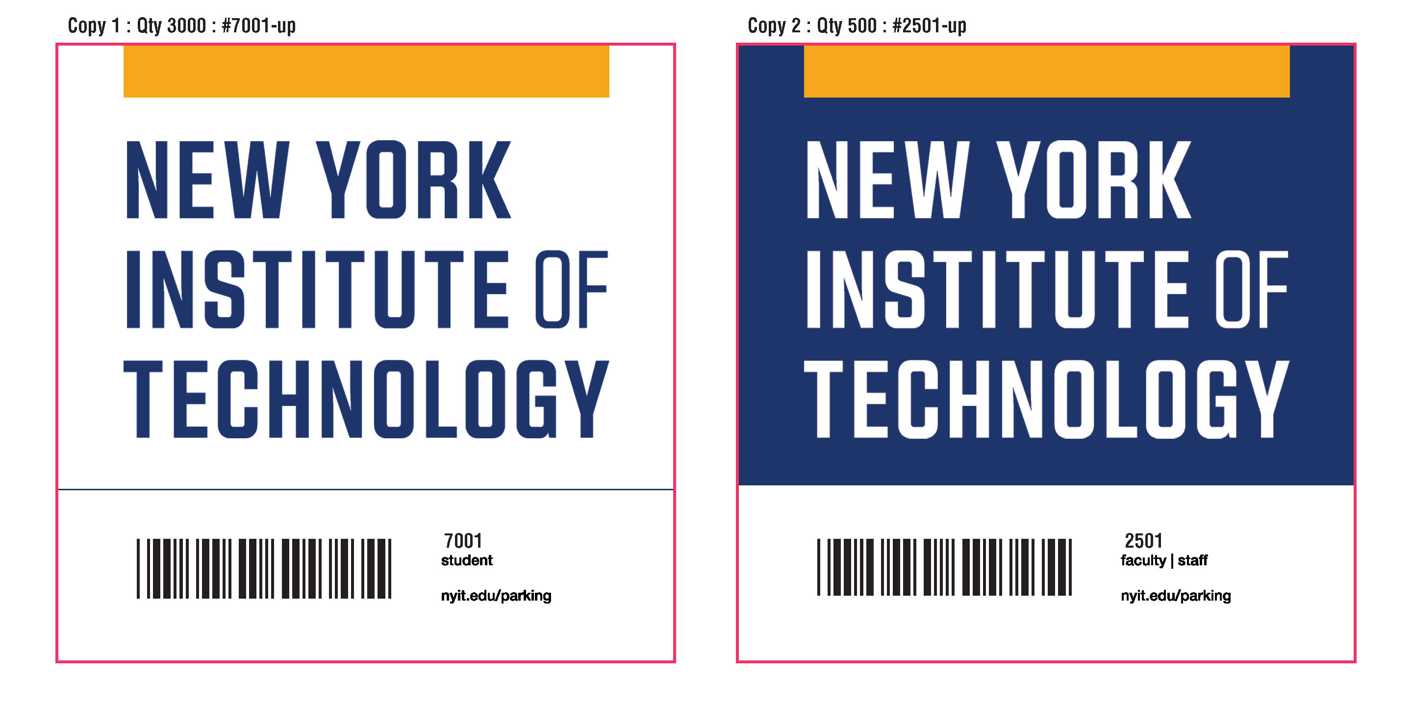 Parking Permits | Long Island | NYIT