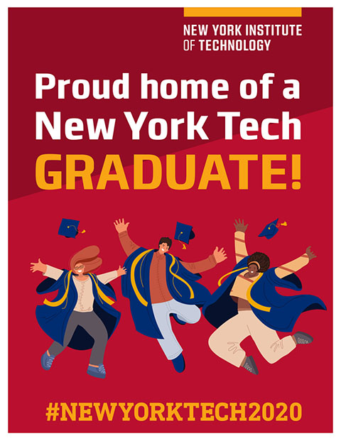 Commencement Poster - Home of a New York Tech Grad